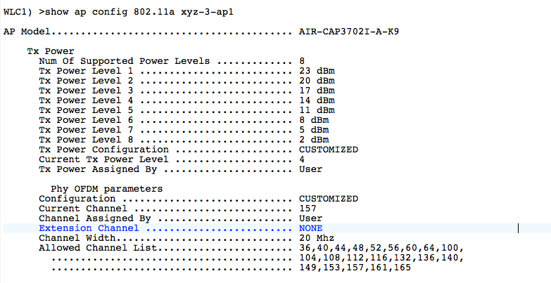 AP Tx Power in Cisco WLC – WiFiTodd